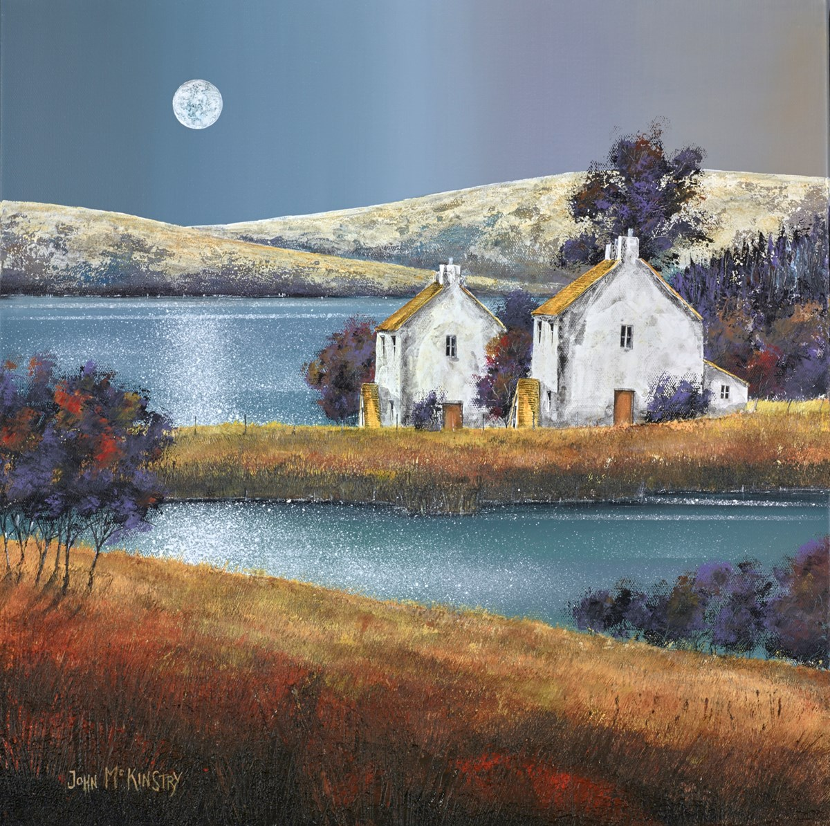 Moon Shine by john mckinstry -  sized 20x20 inches. Available from Whitewall Galleries